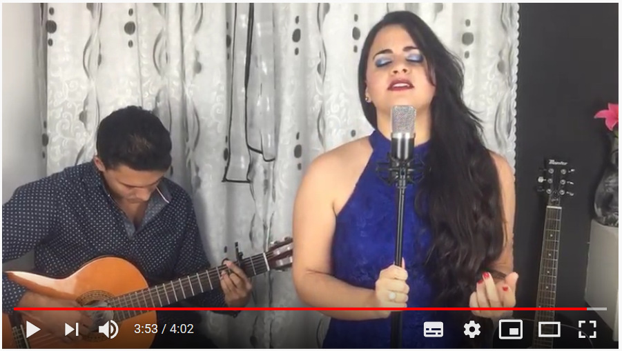 """Laura Garcia from Cuba, sings a cover of the song """"No me conoces"""""""